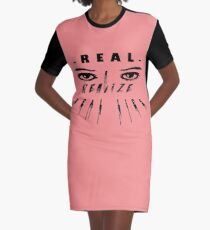 Real eyes realize real lies Graphic T-Shirt Dress