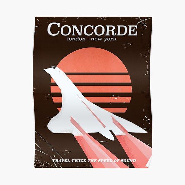 Affiche de vol du Concorde Vintage 70 Poster