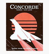 Concorde Vintage 70's flight poster Photographic Print