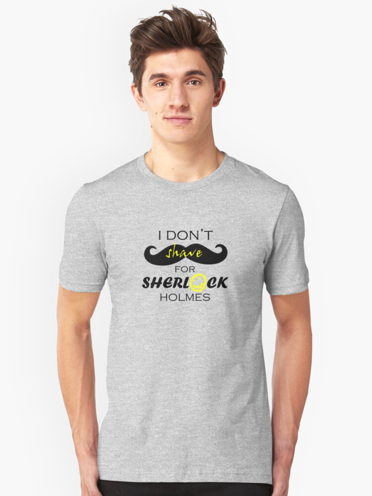 I do not shave for Sherlock Holmes by lockwie