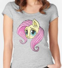 fluttershy plush Women's Fitted Scoop T-Shirt
