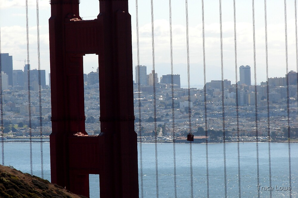 San Francisco Through the  Golden Gate by Trace Lowe