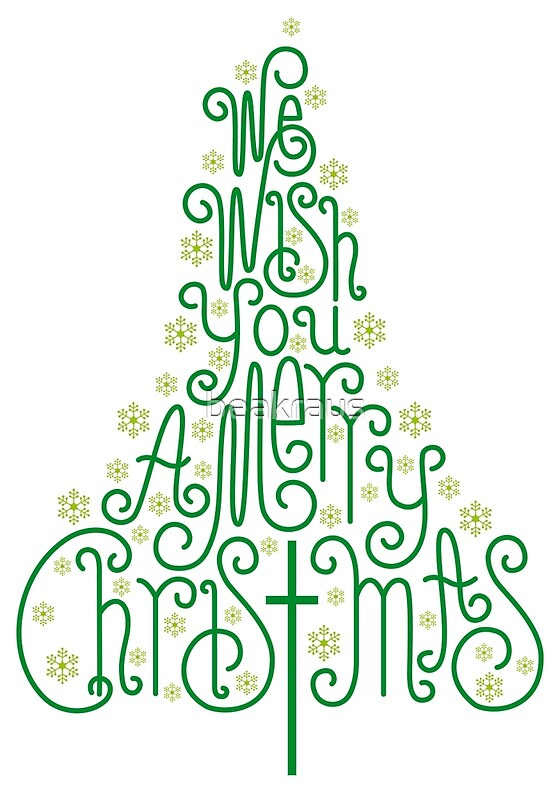 Quottypographic christmas tree with hand drawn letters for Christmas tree letters