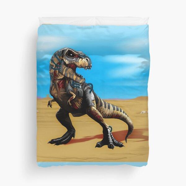 Cyborg Zombie T-Rex Duvet Cover