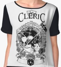 RPG Class Series: Cleric - Black Version Chiffon Top