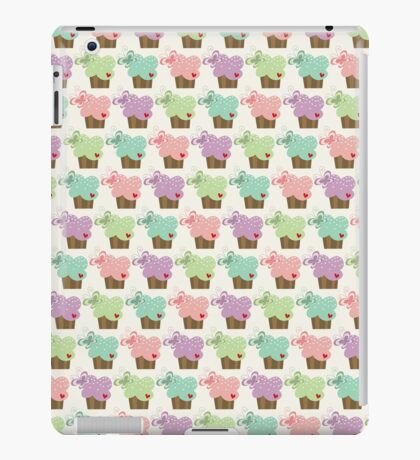 Colorful Sweet Pastel Stacked Cupcakes with Butterflies iPad Case/Skin