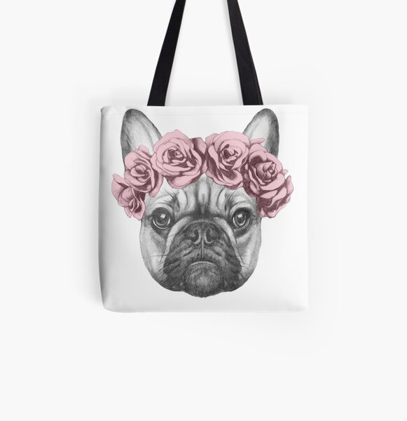 French Bulldog All Over Print Tote Bag
