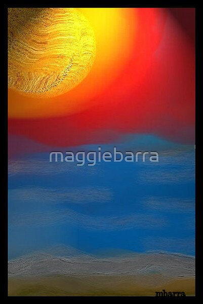 Sunset Over Blue by maggiebarra