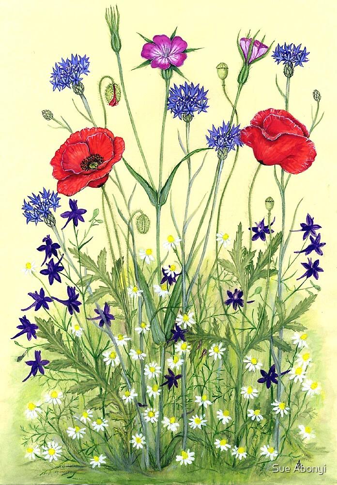 Wheat field weeds by Sue Abonyi