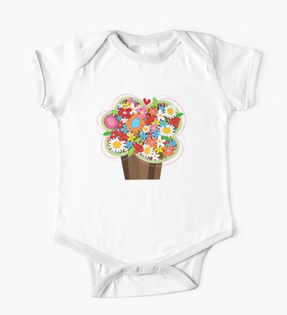 Spring Flowers Whimsical Cupcake Kids Clothes