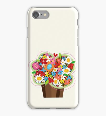Spring Flowers Whimsical Cupcake iPhone Case/Skin