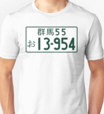 INITIAL D 13-954 Takumi number plate Unisex T-Shirt