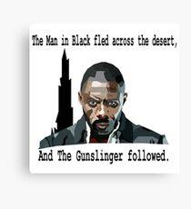 The Gunslinger followed.  Canvas Print