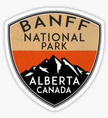 BANFF NATIONAL PARK ALBERTA CANADA Skiing Ski Mountain Mountains Snowboard Boating Hiking 6 Sticker