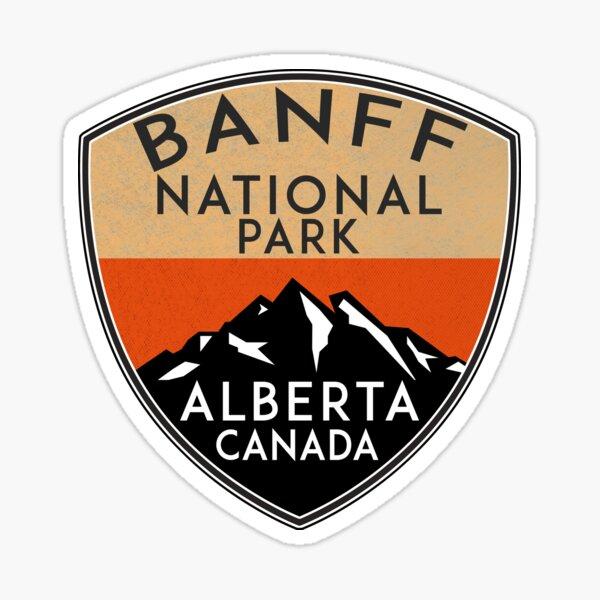 BANFF NATIONAL PARK ALBERTA CANADA Skiing Ski Mountain Mountains Snowboard Boating Hiking 6 Sticker