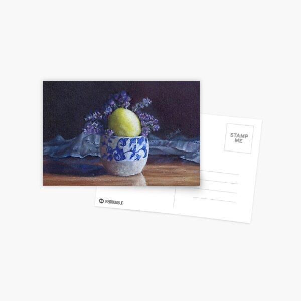 Pot with lavender and lemon Postcard