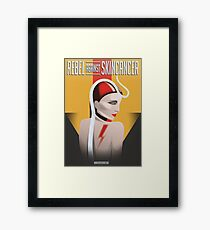 Rebel against Skincancer for Spot the Dot/ Made by Lucia Friedrich Framed Print
