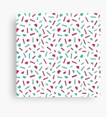 Simple memphis style pattern. Seamless abstract background. Canvas Print