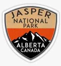 JASPER NATIONAL PARK ALBERTA CANADA Skiing Ski Mountain Mountains Snowboard Boating Hiking 3 Sticker