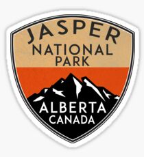 JASPER NATIONAL PARK ALBERTA CANADA Skiing Ski Mountain Mountains Snowboard Boating Hiking 3 Sticker
