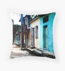 The girl at the top of the stairs! Throw Pillow