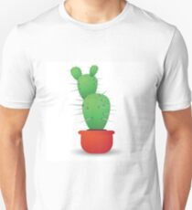 green cactus  isolated on a white background T-Shirt