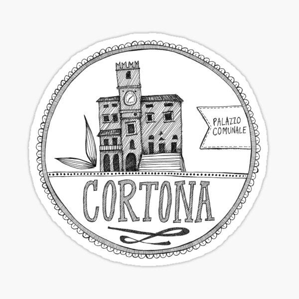 Palazzo Comunale, Cortona Sticker