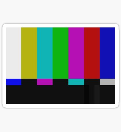 PAL TV Test Pattern  Sticker
