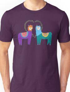 Llamas In Love Unisex T-Shirt
