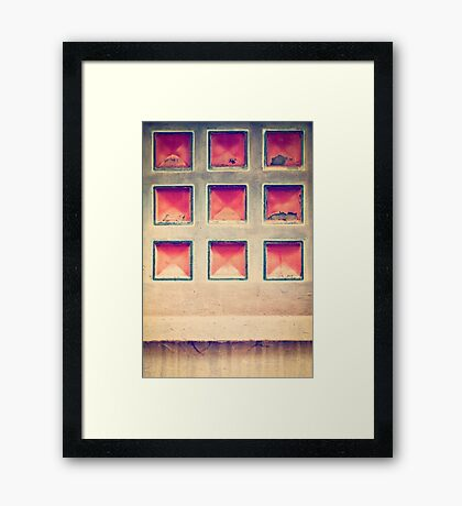 Squares in wall Framed Print