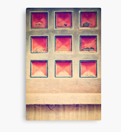 Squares in wall Canvas Print