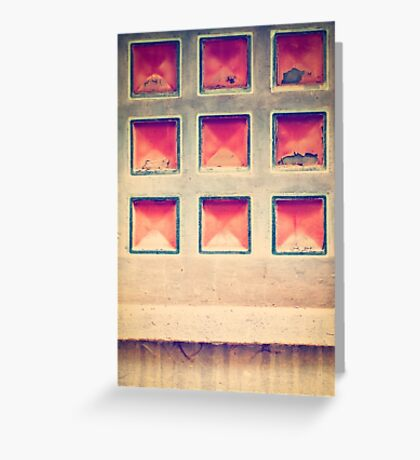 Squares in wall Greeting Card