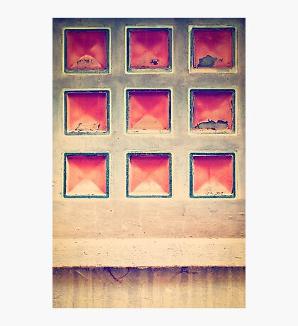 Squares in wall Photographic Print
