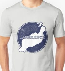 Lanzarote Canary Islands Spain Travel Map  Unisex T-Shirt