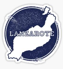 Lanzarote Canary Islands Spain Travel Map  Sticker