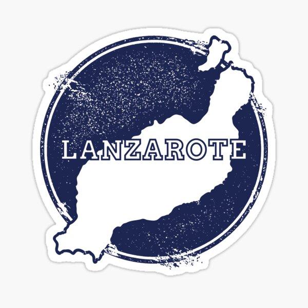 Mapa de viaje de Lanzarote Canarias España Pegatina
