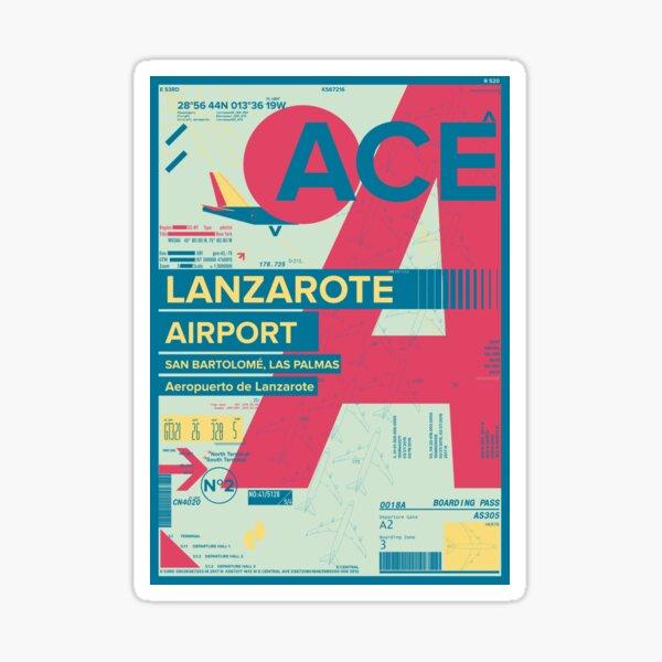 Lanzarote Canarias España Airport Travel Design Pegatina