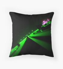 """laser"" Throw Pillow"