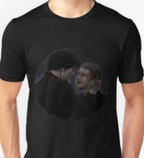 Sherlock and John rain Unisex T-Shirt
