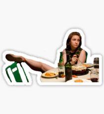 Hannah dinner party  Sticker