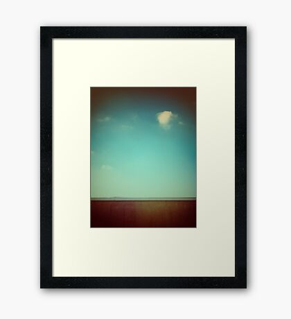 Emptiness with wall Framed Print