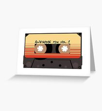 Awesome Mix Vol 1 Greeting Card