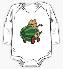 Albert and his watermelon ride One Piece - Long Sleeve