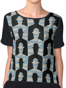 """after Rene Magritte pattern """"Decalcomania"""" Chiffon Top"""