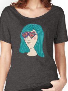 Flower Sunglasses Women's Relaxed Fit T-Shirt