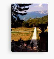 Walkway to Massandra Palace Canvas Print