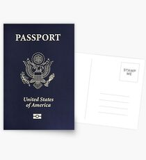 Us passport  Postcards