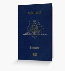 Australian Passport  Greeting Card