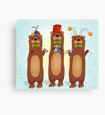 Otter Party And You Are Invited Canvas Print