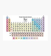 Periodic Table with all 118 Element Names Photographic Print